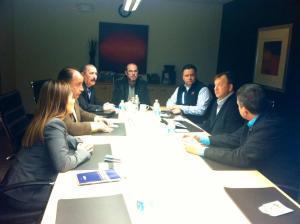 A reunião avaliou a parceria da CDLE com  a HCFA