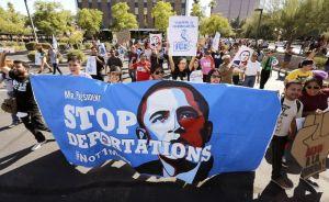 Os manifestantes se reuniram diante da Casa Branca