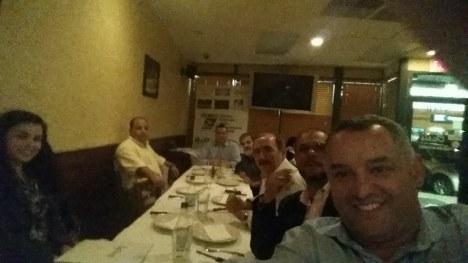 Membros da CDLE durante a oitava reunião