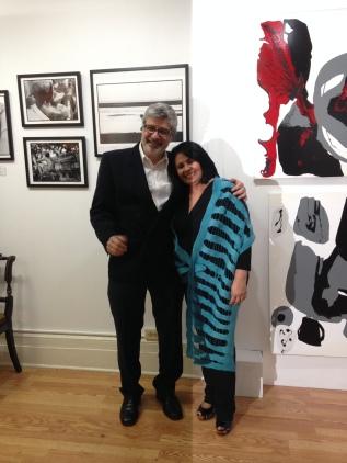 O economista Louis Ventura e a curadora Alcinda Saphira, fundadores e diretores da galeria Saphira & Ventura (foto: Beatriz Deruiz)